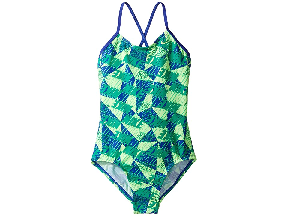 Nike Kids Graphic Crossback One-Piece Swimsuit (Little Kids/Big Kids) (Paramount Blue) Girl