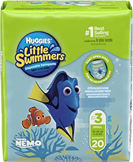 Huggies Little Swimmers Disposable Swimpants (Character May Vary), Small, 20 Count