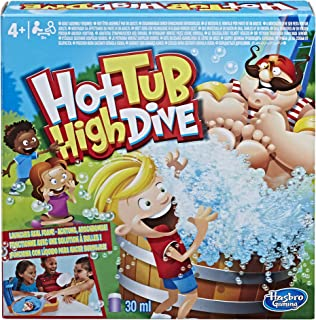 Hasbro Gaming Hot Tub High Dive Game With Bubbles For Kids Board Game