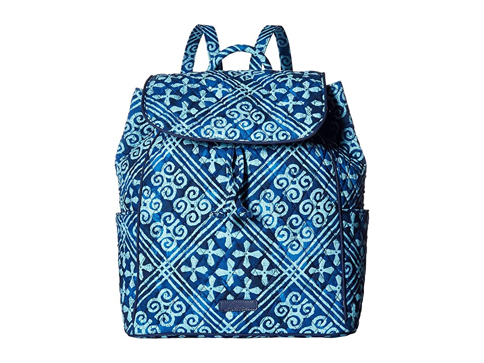 Vera Bradley Drawstring Backpack (Cuban Tiles) Backpack Bags