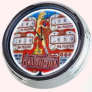 Reloj de neón con caja automática de dinero Regent 100 Rotomat Wulff 1975, reloj decorativo con luz, estilo de los Estados...
