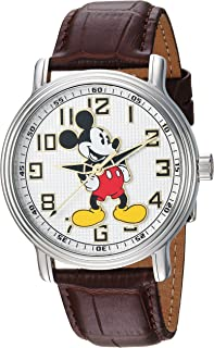 Invicta Men's 'Disney Limited Edition' Quartz Stainless Steel and Leather Casual Watch, Color:Brown (Model: 24545)