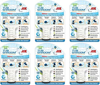 TubShroom TSWHT454 the Revolutionary Tub Drain Protector Hair Catcher/Strainer/Snare, White, 6 Pack