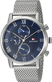 Tommy Hilfiger Men's Sophisticated Sport Quartz Watch with Stainless-Steel Strap, Tone, 22 (Model: 1791398)