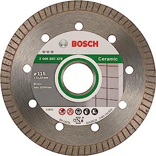 Bosch Professional - Disco de corte de diamante Best for Ceramic Extra-Clean Turbo, 115 x 22.23 x 1.4 x 7 mm