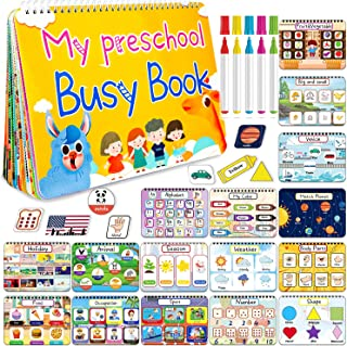 HeyKiddo Toddler Busy Book, Autism Toys for Kids, Preschool Learning Activity Binder, 16 Themes with Colorful Pages, Educa...