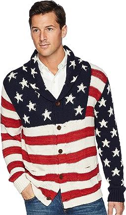 American Flag Shawl Cardigan