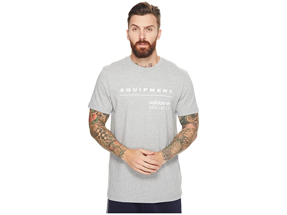 adidas Originals PDX Classic Tee (Medium Grey Heather/White) Men's T Shirt