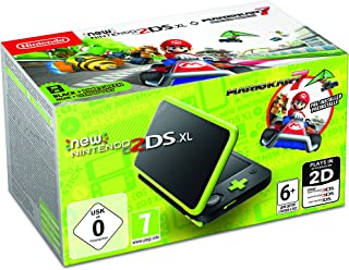 任天堂手持控制臺 - 新任天堂 2DS XL Nintendo 2DS XL + Mariokart 7 Black and Lime Green