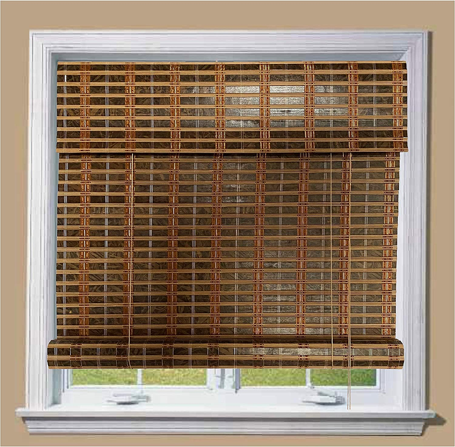 THY COLLECTIBLE Bamboo Max 64% OFF Roll Up Window Sun Max 89% OFF Blind Light Shade Fil