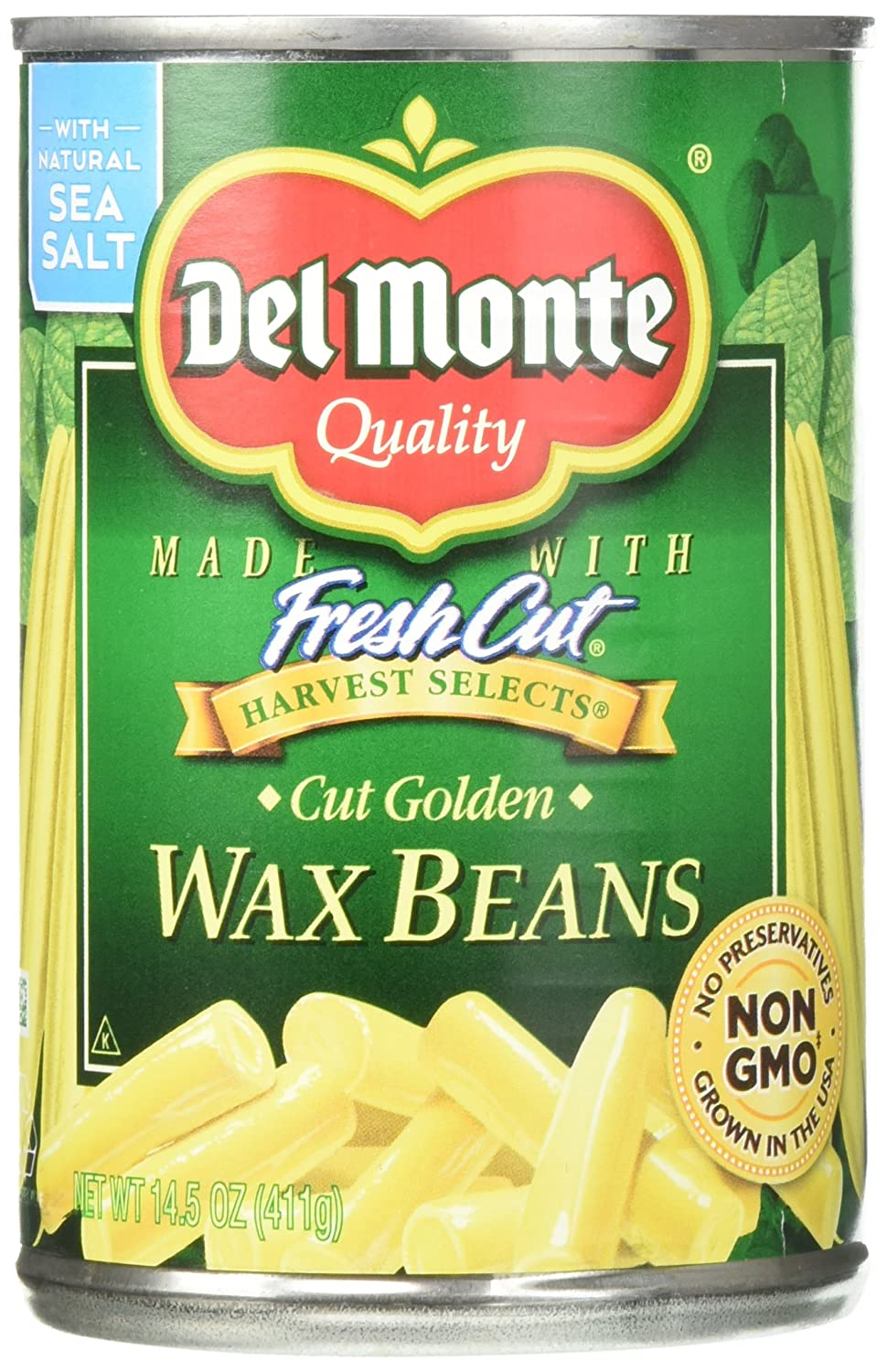 Quantity limited Del Be super welcome Monte Cut Wax Beans of Pack 12 14.5 oz