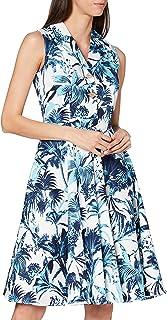 Joe Browns Women's Heavenly Hawaii Dress Casual, White/Blue