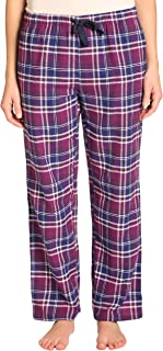 EVERDREAM Sleepwear Womens Flannel Pajama Pants, Long 100% Cotton Pj Bottoms