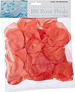 Darice RC-7209-35 Decorative Satin Rose Petals, Coral, 100-Pack