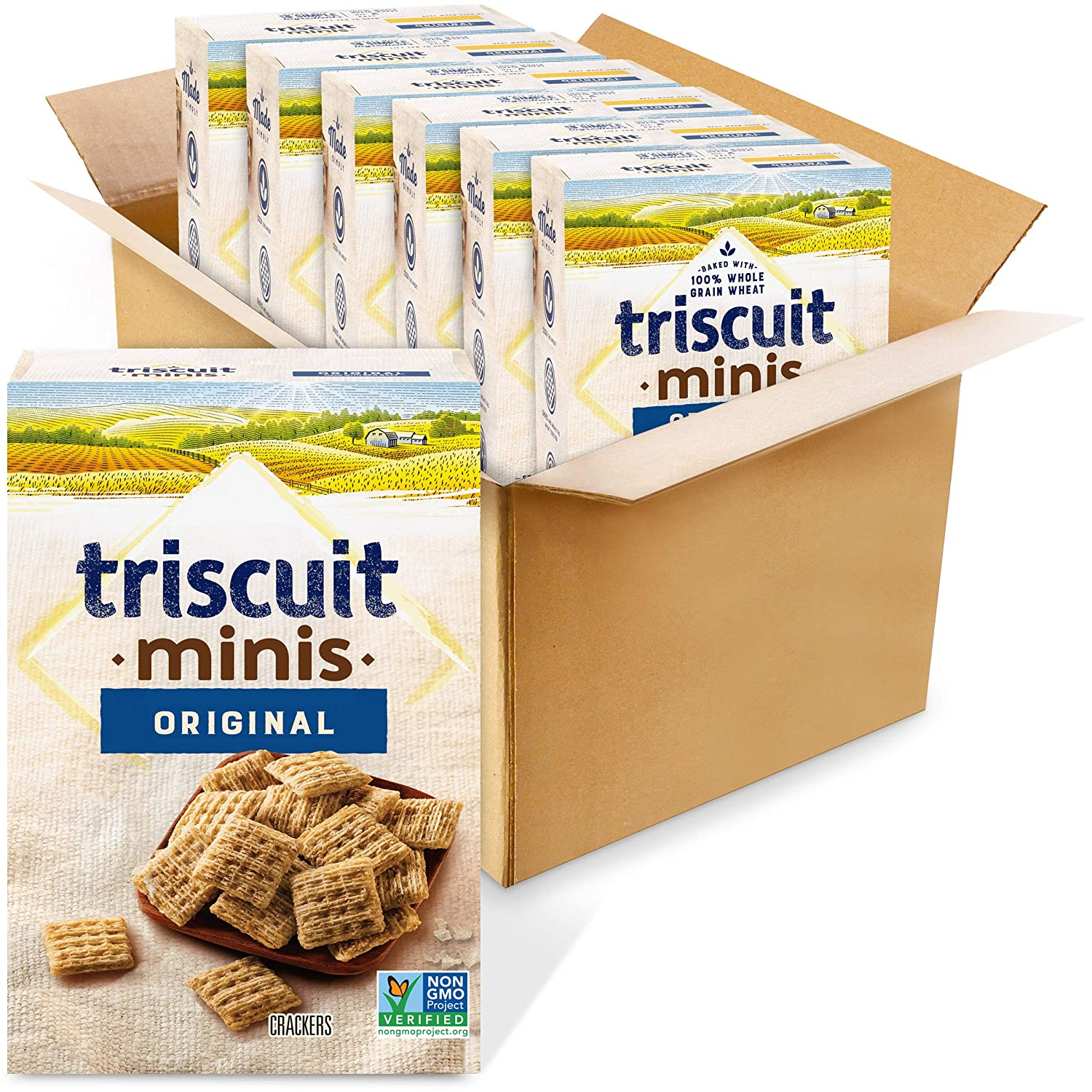 Triscuit Reservation Mini Original Crackers Non-GMO 8 Quality inspection of 6 Pack Ounce