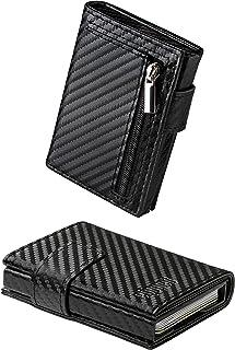 Porta Carte di Credito Portafoglio Uomo Donna gaddga® 2.0 Ultraleggero Porta Tessere Documenti Zip Regalo Blocco RFID Sche...
