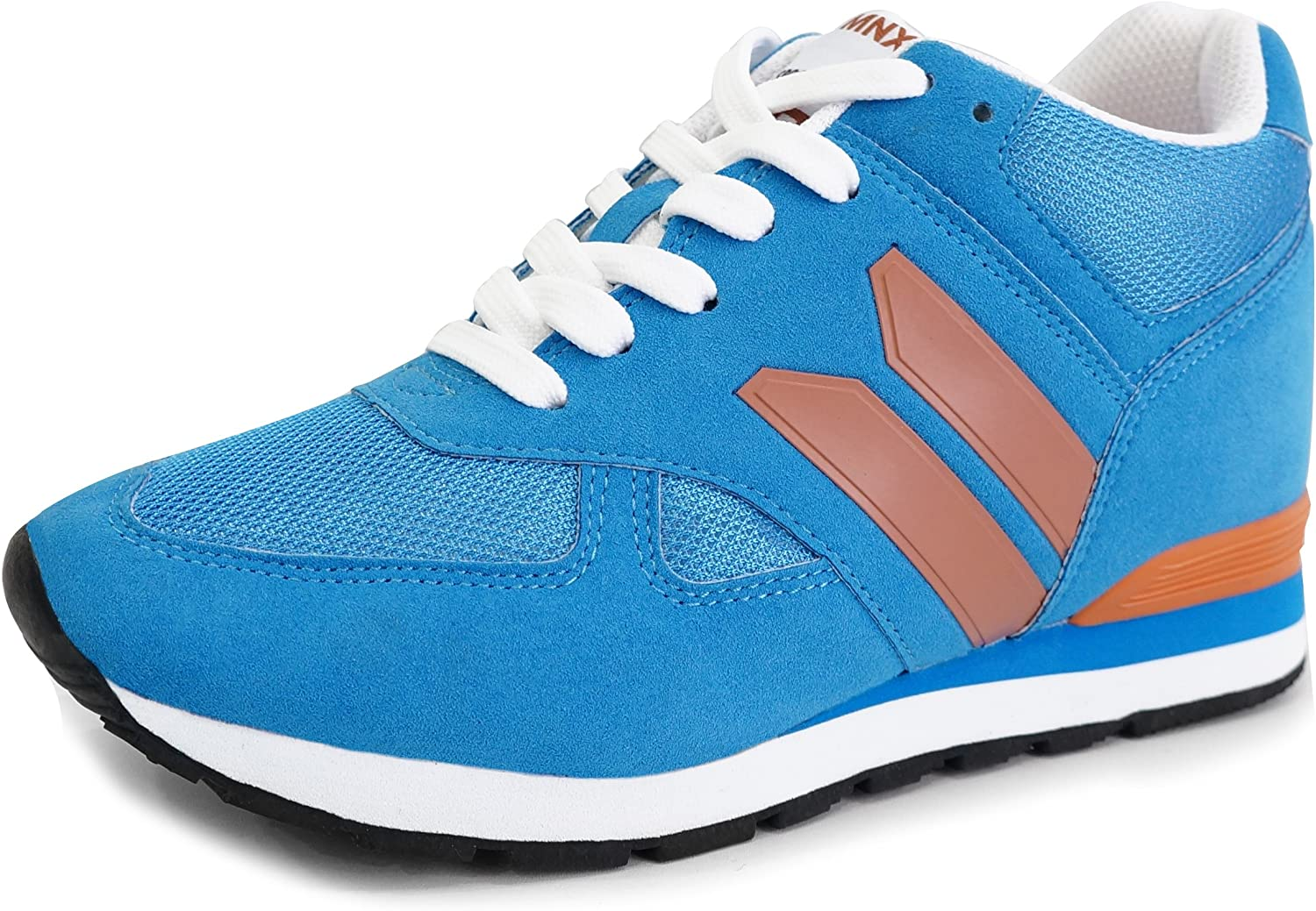 MNX15 Women's Elevator shoes Height Increase 3.5  Corby bluee