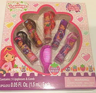 Strawberry Shortcake Gift Set 5 Lipglosses and Comb