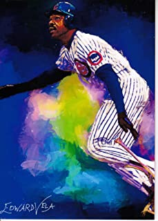 Andre Dawson #1 - Chicago Cubs - HALL OF FAME - NL MVP - Montreal Expos - Unlimited Edition Original Artwork Sketch Card - NOW FREE SHIPPING!
