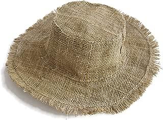 Hemp Sun Hat, Beach Wide Brim Foldable Panama hat, Unisex Bucket Summer Hat, Natural Eco Hat, Handmade
