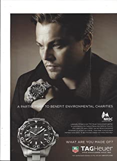 PRINT AD With Leonardo DiCaprio For 2009 Tag Heuer Watches