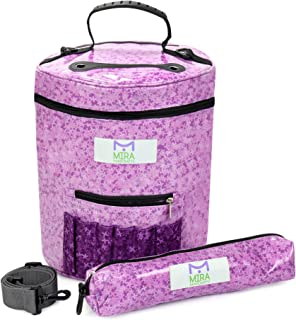 Premium Large Knitting Tote Bag - Yarn Storage Bag for Ultimate Organizing of Crochet and Knitting Yarn, Crochet Patterns and Hooks, Crochet Needles and Wool - Great Crafts Storage(Lilac)