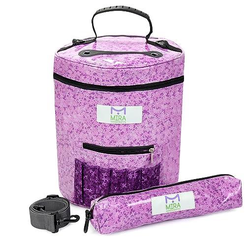 Premium Large Knitting Tote Bag - Yarn Storage Bag (Lilac)