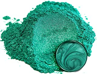 "Eye Candy Mica Powder Pigment ""Okinawa Green"" (50g) Multipurpose DIY Arts and Crafts Additive | Natural Bath Bombs, Resin, Paint, Epoxy, Soap, Nail Polish, Lip Balm"