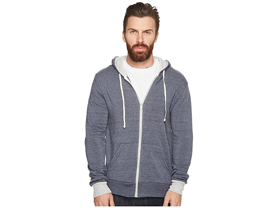 Alternative Rocky Color Blocked Hoodie (Eco True Navy/Eco Oatmeal) Men