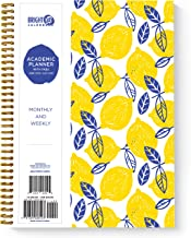Lemons Academic Planner -Yearly Monthly Weekly Daily Calendar Organizer by Bright Day Spiral Bound Dated Agenda Flexible Cover Notebook (Lemons, 11 x 8.75)