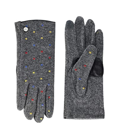 Echo Design Dot Dot Touch Gloves Water Repellent Finish (Heather Grey) Extreme Cold Weather Gloves