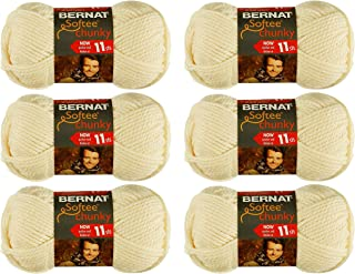 Bernat Bulk Buy Softee Chunky Yarn (6-Pack) Natural 161128-28008