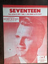 SEVENTEEN (Boyd Bennett SHEET MUSIC 1955 pristine condition, as recorded by BOYD BENNETT and his ROCKETS