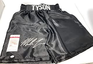 Mike Tyson Signed Autograph Boxing Trunks TYSON embroidered Limited Edition Trunks JSA Witnessed Certified