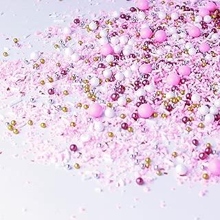 Pink Velvet Sprinkle Mix, Princess Sprinkles, Baby Shower Sprinkles, Metallic Sprinkles, Pink and Gold Sprinkles, 2oz
