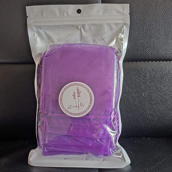 Zonesgo 50 Pcs Sachet Empty Bags Lavender Bags Unique Cotton Bags For Lavender Spice And Herbs Purple