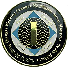 1 Year NA Tri-Plated Recovery Medallion, Narcotics Anonymous Clean Time Coin