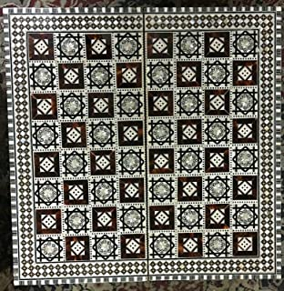 2 in 1 Backgammon board inlaid Mother of Pearl/Backgammon Egyptian Chess