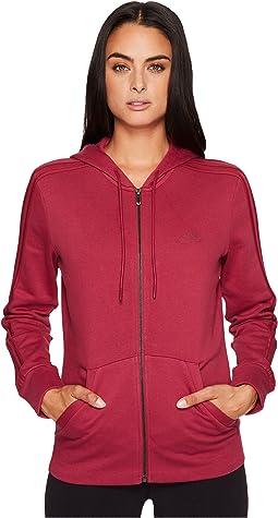 Essentials Cotton Fleece 3S Full Zip Hoodie