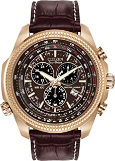 Citizen Men BL5403-03X Year-Round Chronograph Solar Powered Brown Watch