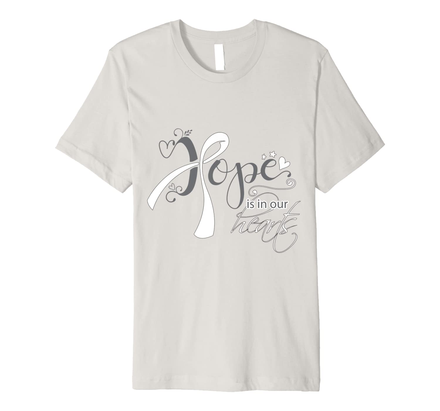 Hope is In Our Hearts For Lung Cancer Fighters Tee Shirts