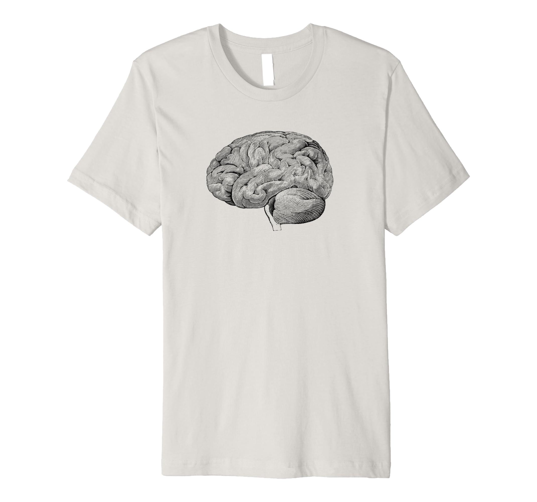 Amazon Human Brain Anatomy T Shirt Vintage Medical Drawing