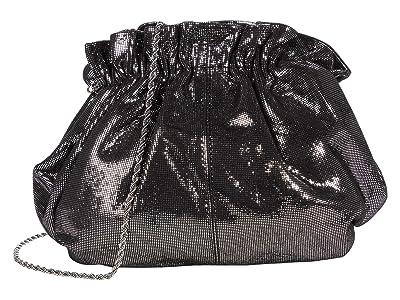 Loeffler Randall Willa Mini Cinch Clutch (Black/Silver) Handbags