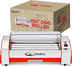 The Candery Upgraded Hot Dog Roller - Sausage Grill Cooker Machine - 6 Hot Dog Capacity - Household Hot Dog Machine Upgraded Plastic Cover