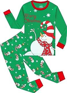 shelry Girls Christmas Pajamas Big Boys Pjs Sleepwear Kids Clothes Stripe Pants Set