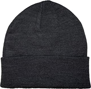 Timberland Men`s Embroidered Logo Cuffed Knit Beanie