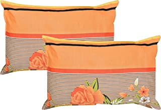 HFI 2 Piece Cotton Pillow Cover - 17x27 inch - Orange