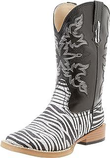 Roper Square Toe Glitter Zebra Western Boot (Toddler/Little Kid)