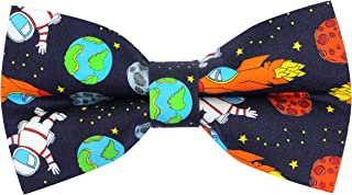 OCIA Cotton Cute Pattern Pre-tied Bow Tie Adjustable Bowties for Adult & Children