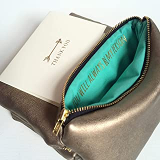 99d3a29ef2 Bridesmaid Gift For Her. You Will Always Be My Person. Gold Hidden Message  Bag